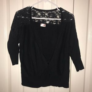 Mossimo Lacy Black Cardigan